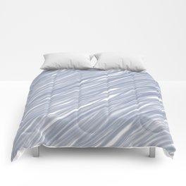 The silver sea - Simple light blue pattern Comforters