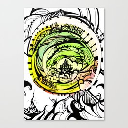 Compass Journey Canvas Print