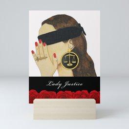 Lady Justice Mini Art Print
