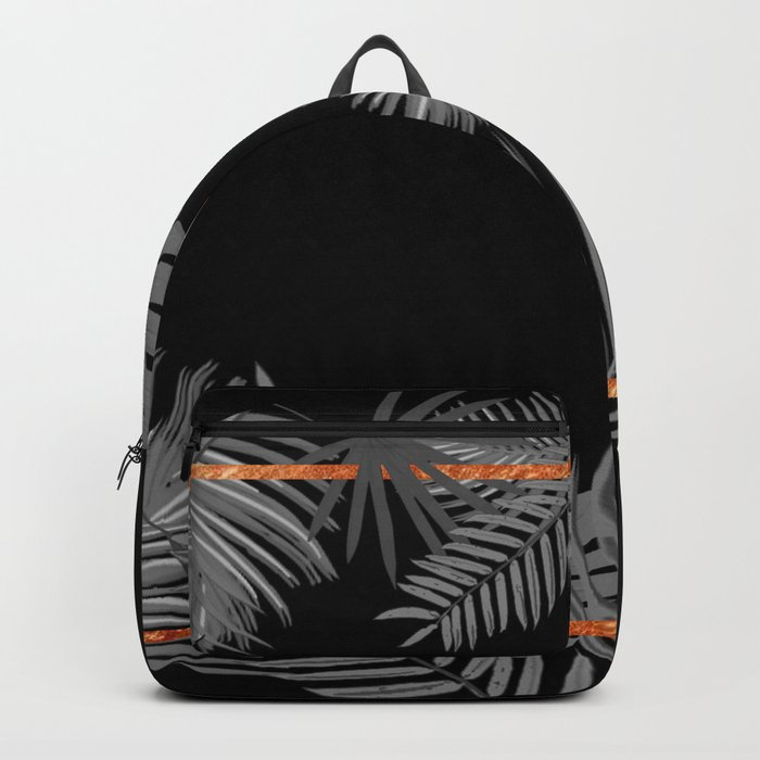 TROPICAL SQUARE COPPER BLACK AND GRAY Backpack