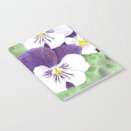 Pansies flowers Notebook