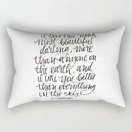 I Love You Much Rectangular Pillow