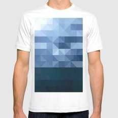The Lake MEDIUM Mens Fitted Tee White