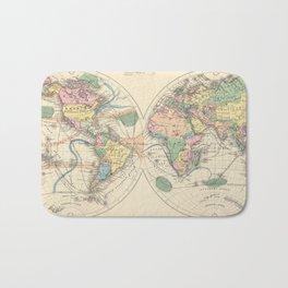Vintage Map of The World (1872) Bath Mat