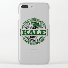 I prefer Kale with a Silent K Kale Art for Vegans Light Clear iPhone Case