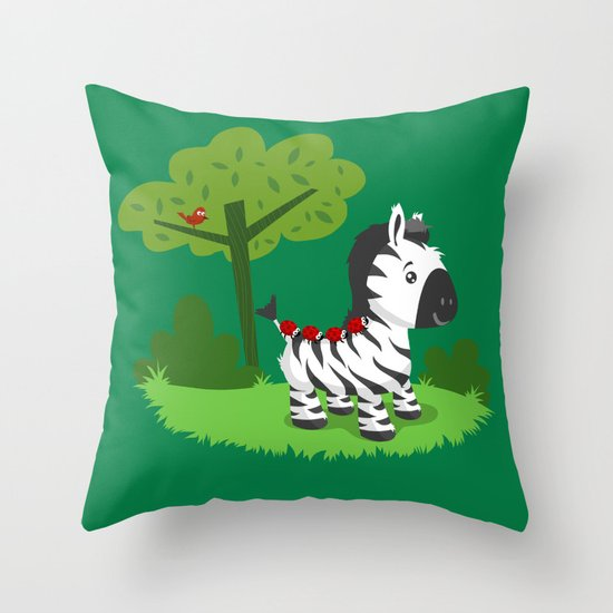 ZEBRA ROAD Throw Pillow
