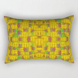 Rainbow stars in the golden sky scape Rectangular Pillow