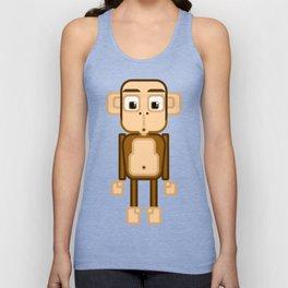 Super cute animals - Cheeky Brown Monkey Unisex Tank Top