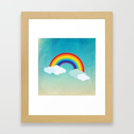 Rainbow in the sky , nursery decor , children gift, birthday gift Framed Art Print