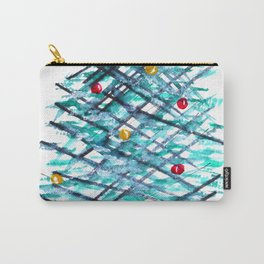 Modern Linear Christmas Tree  Carry-All Pouch