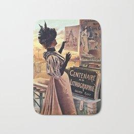 1895 Paris Centennial of Lithography Bath Mat