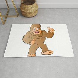Bigfoot cartoon Rug