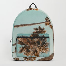{1 of 2} Hug a Palm Tree // Tropical Summer Teal Blue Sky Backpack