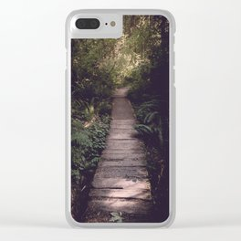 Pacific Northwest Forest Trail Clear iPhone Case