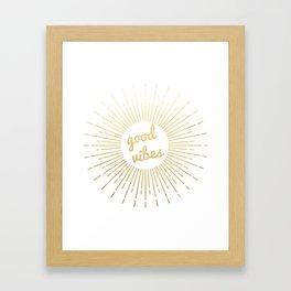 good vibes (gold) Framed Art Print