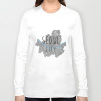 seoul Long Sleeve T-shirts featuring Seoul city by Vania Pietronigro