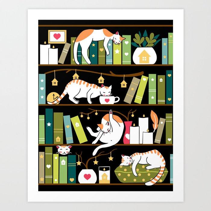 Library cats Kunstdrucke