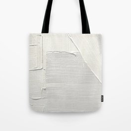 Relief [2]: an abstract, textured piece in white by Alyssa Hamilton Art Tote Bag