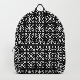 snowflake 16 For Christmas black and white Backpack