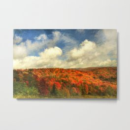 Fall in the Highlands Metal Print