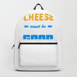 Cheese Wine and Friends Must be Old to be Good Backpack