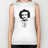 edgar allan poe Biker Tanks featuring Edgar Allan Poe  by SINPE