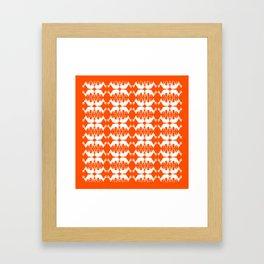 Oh, deer! in pumpkin orange Framed Art Print