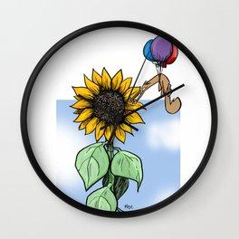 Floating toward a dream Wall Clock
