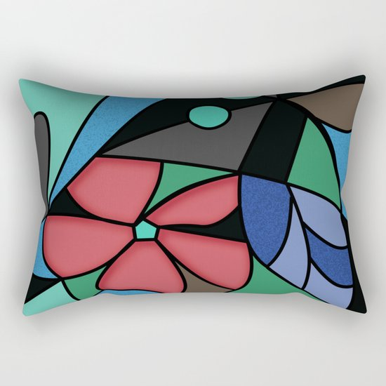 Abstract pattern Mosaic . Rectangular Pillow