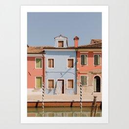 Burano blue house Art Print