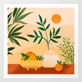 Bohemian Summer / Landscape Illustration Art Print