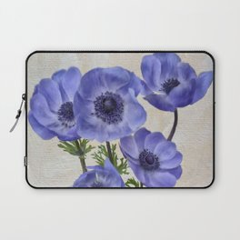 Pretty Periwinkle Poppies Laptop Sleeve