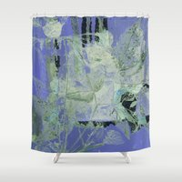 transparent Shower Curtains featuring transparent flowers by clemm