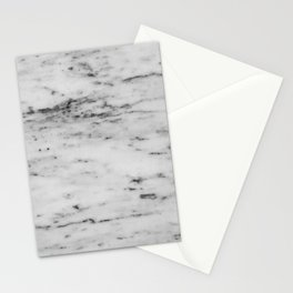 White Marble with Black Flecks Stationery Cards