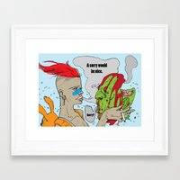 tank girl Framed Art Prints featuring tank girl by Bern