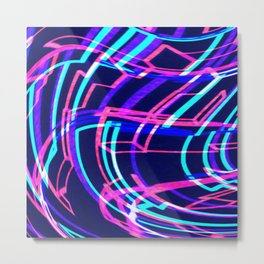 EDM Music Wave Metal Print