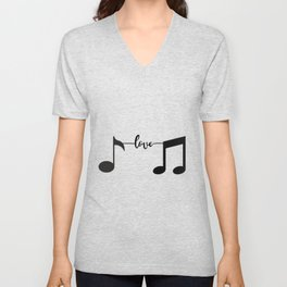 Music Pulse Heartbeat Notes Clef Frequency Wave Sound Festival Unisex V-Neck