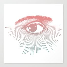 I See You. Pink Turquoise Gradient Sunburst Canvas Print