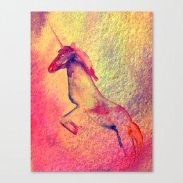 Unicorn Rainbow Canvas Print