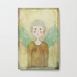 Angel in the Mirror Self Portrait Metal Print