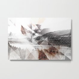 Geometric Donner Lake  Metal Print