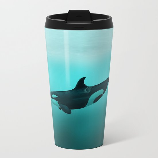 Lost in Paradise ~ Killer Whale ~ Orca ~ Original Version Metal Travel Mug