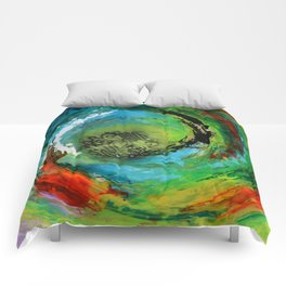 Maelstrom, captivating abstract painting Comforters