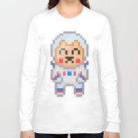8bit Long Sleeve T-shirts featuring 8Bit Astrobear by Bear Picnic