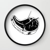meat Wall Clocks featuring Meat by matteolasi