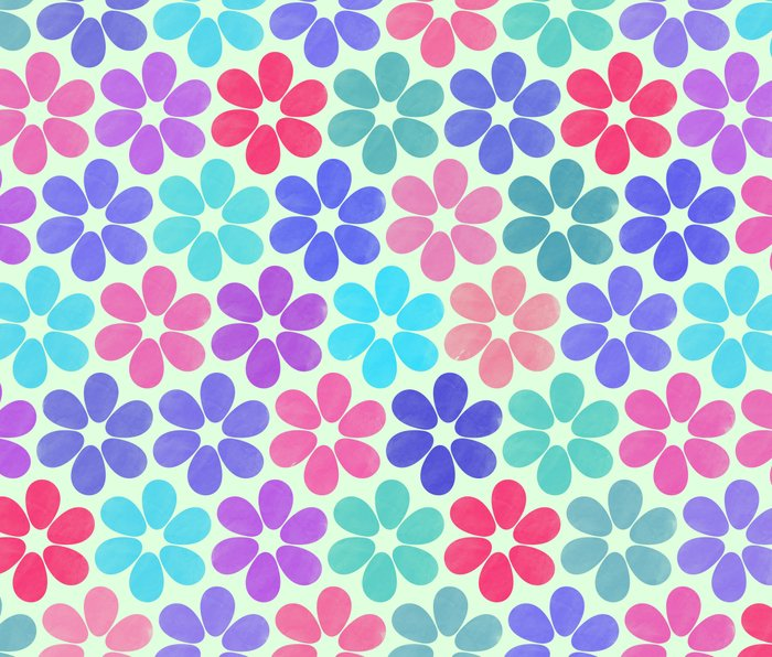 Colorful Floral Pattern Metal Travel Mug