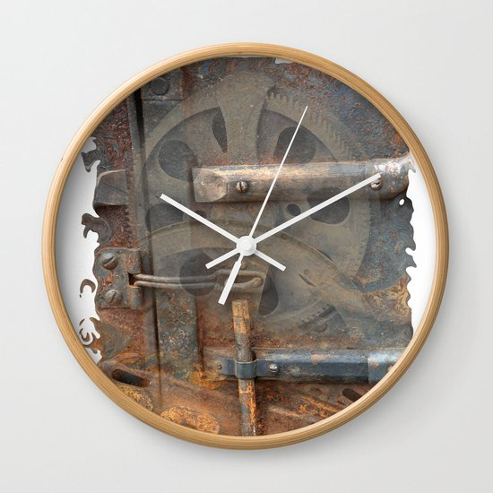 Rusty Stuff Montage Wall Clock