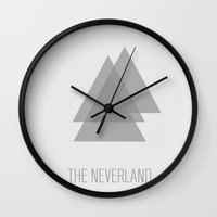 neverland Wall Clocks featuring The Neverland by The Neverland