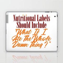 Nutritional Labels Upgrade Funny Foodie Love Meme Laptop & iPad Skin
