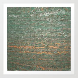 fluid coppered teal Art Print